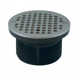 "5"" Round Strainer<br>w/ 3-1/2"" PVC Spud<br>(Pearl Nickel) Product Image"