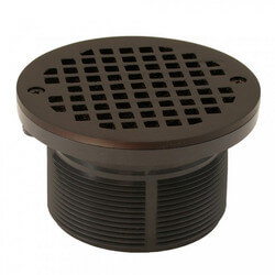 "5"" Round Strainer<br>w/ 3-1/2"" PVC Spud<br>(Oil Rubbed Bronze) Product Image"