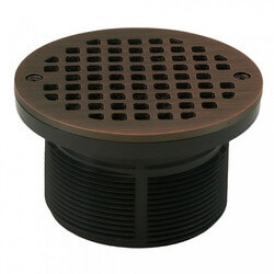 "5"" Round Strainer<br>w/ 3-1/2"" PVC Spud<br>(Old World Bronze) Product Image"