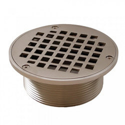"5"" Round Strainer<br>w/ 3-1/2"" Metal Spud (Brushed Nickel) Product Image"