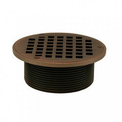 "5"" Round Strainer<br>w/ 3-1/2"" Metal Spud<br>(Old World Bronze) Product Image"