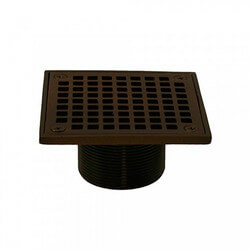 "4"" Square Strainer<br>w/ 2"" Brass Spud<br>(Old World Bronze) Product Image"