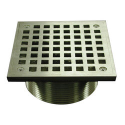 "5"" Square Strainer<br>w/ 3-1/2"" Metal Spud (Nickel Bronze) Product Image"