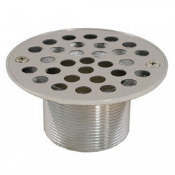 "4-1/4"" Round Strainer<br>w/ 2"" Metal Spud<br>(Stainless Steel) Product Image"