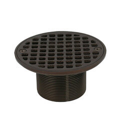 "4-1/4"" Round Strainer<br>w/ 2"" Metal Spud<br>(Old World Bronze) Product Image"