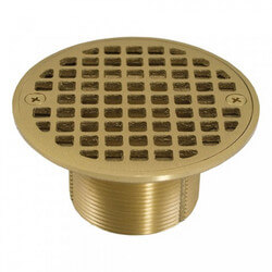 "4-1/4"" Round Strainer<br>w/ 2"" Metal Spud<br>(Polished Brass) Product Image"