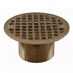 "4-1/4"" Round Strainer<br>w/ 2"" Metal Spud<br>(Brushed Nickel) Product Image"