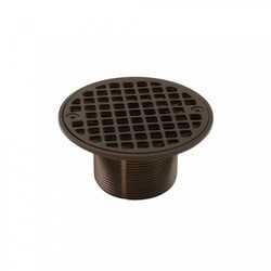 "4-1/4"" Round Strainer<br>w/ 2"" Metal Spud<br>(Oil Rubbed Bronze) Product Image"
