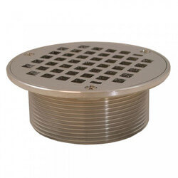 "5"" Round Strainer<br>w/ 3-1/2"" Metal Spud (Chrome Plated) Product Image"