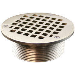 "5"" Round Strainer<br>w/ 3-1/2"" Metal Spud<br>(Nickel Bronze) Product Image"