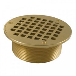 "5"" Round Strainer<br>w/ 3-1/2"" Metal Spud (Polished Brass) Product Image"