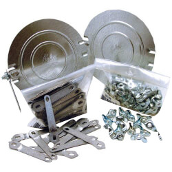 "6"" Pre-Assembled Damper w/ Wing Nuts (Box of 100) Product Image"