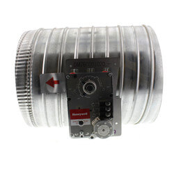 """10"""" Single Blade Round Damper w/ ML6161A2009 Actuator Product Image"""
