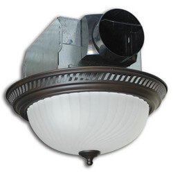 DRLC701 Decorative Round Fan w/ 60W Light (Bronze, 70 CFM) Product Image