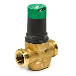Threaded 1 1/4 in. Pressure regulator Valve with Calibrated Adjustment Dial (with single union, threaded tailpiece)