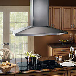 "36"" Stainless Steel Island Chimney Hood w/ Internal Blower (480 CFM)"