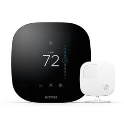 Ecobee3 Wi-Fi<br>Smart Thermostat<br>w/ Remote Sensor Product Image