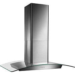 "36"" Stainless Steel Island Glass Canopy Chimney Hood w/ Internal Blower (500 CFM)"