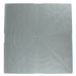 "3"" E-Lite Plastic Equipment Pad, 24"" x 24"""