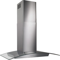 "30"" SS Glass Canopy Chimney Hood w/ Internal Blower (500 CFM) Product Image"