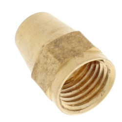 "(41S-4) 1/4"" Brass Short Flare Nut"