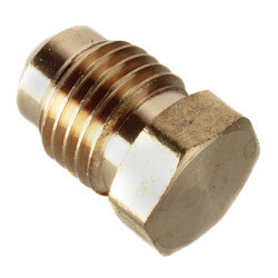 """(39-4) 1/4"""" Brass Flare Plug"""