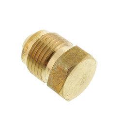 """(39-6) 3/8"""" Brass Flare Plug"""
