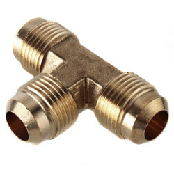 "(44-8) 1/2"" Brass Flare Tee Product Image"