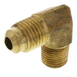 "(49-46) 1/4"" Flare x 3/8"" MIP Brass Elbow"
