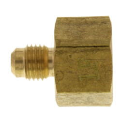 """(46-46) 1/4"""" Flare x 1/2"""" FIP Brass Coupling"""