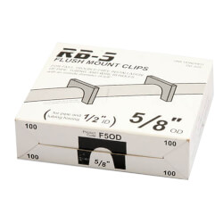 "Box of 100 Flush Mount Clips for 1/2"" PEX"