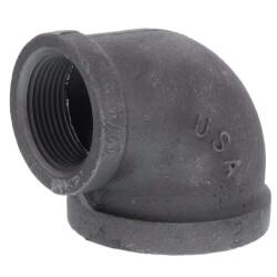 "1"" x 3/8"" Black 90° Elbow Product Image"