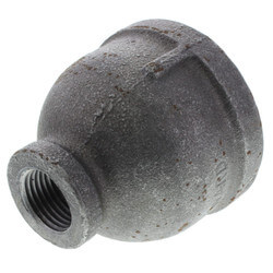 "1-1/2"" x 1/2""<br>Black Coupling Product Image"