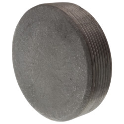 "4"" Black Countersunk Plug Product Image"