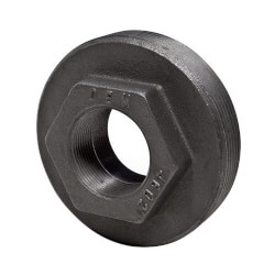 "4"" x 1-1/2"" x 1-1/2"" Black Double Tapped Tank Bushing"