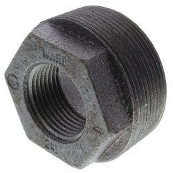 "3/4"" x 3/8"" Black Hexagon Bushing"