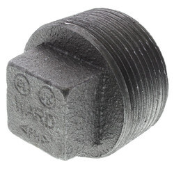 "1-1/4"" Black Regular Cored Plug"