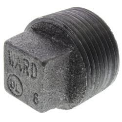 "1"" Black Regular<br>Cored Plug Product Image"