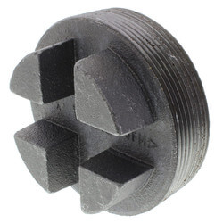 "4"" Black Regular Cored Plug (Bar Head)"