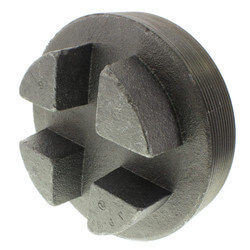 "6"" Black Regular Cored Plug (Bar Head)"