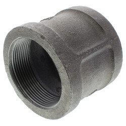 """1-1/2"""" Black Right & Left Hand Thread Coupling Product Image"""