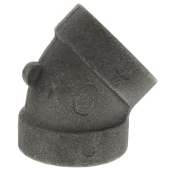 """1"""" Black Cast Iron<br>Steam 45° Elbow Product Image"""