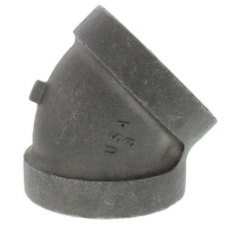 """3"""" Black Cast Iron<br>Steam 45° Elbow Product Image"""