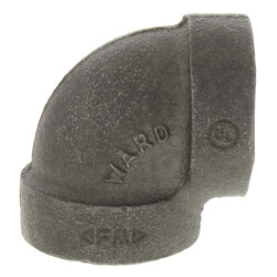 "2-1/2"" Black Cast Iron Steam 90° Elbow"