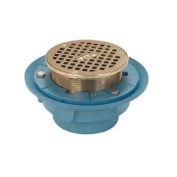 "4"" No-Hub Adjustable Finished Area Floor Drain"