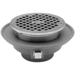 "2"" Low Profile Push-On Adjustable Floor Drain"