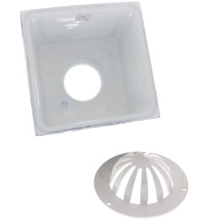 """8"""" X 8"""" A.R.E. Floor Sink, 6"""" Sump, 3"""" Nominal (No Grate) Product Image"""