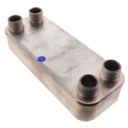 """14 plate, 3/4"""" Thread<br>8 GPM Heat Exchanger<br>(3"""" x 8"""") Product Image"""