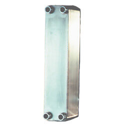 """80 Plate, 1"""" Threaded TTP Double Wall Brazed Plate Heat Exchanger (5"""" x 21"""") Product Image"""
