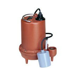 6/10 HP C.I. Auto Submersible Effluent Pump, 208-230V, 25' Cord Product Image